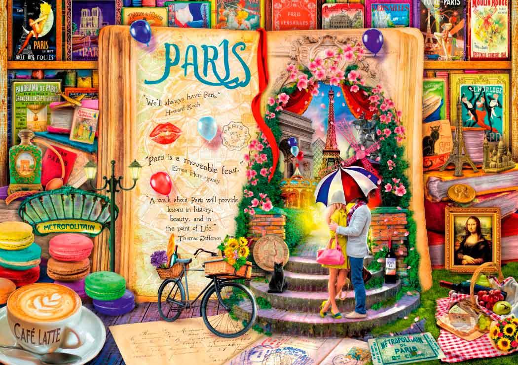 Puzzle Bluebird La Vida es un Libro Abierto en París de 1000 Pzs