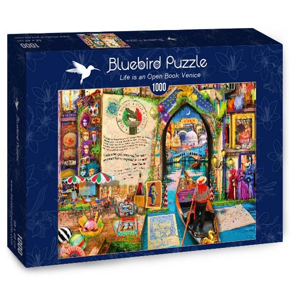 Puzzle Bluebird La Vida es un Libro Abierto en Venecia de 1000 P