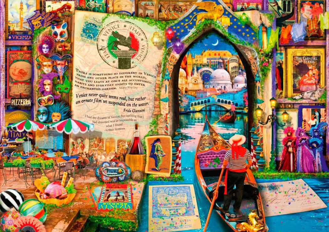 Puzzle Bluebird La Vida es un Libro Abierto en Venecia de 4000 P