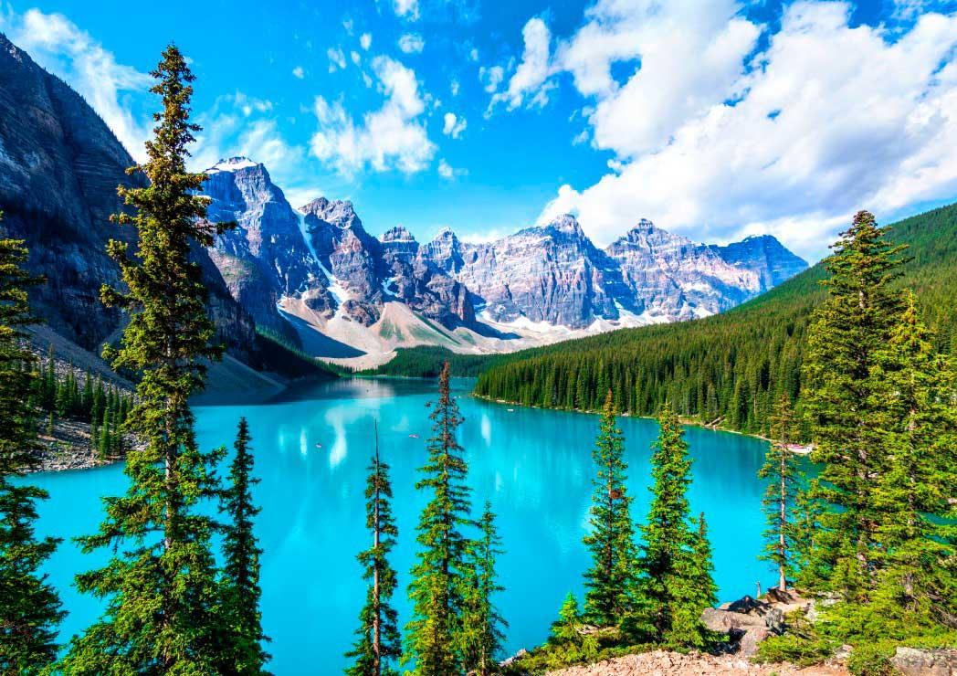 Puzzle Bluebird Lago Moraine, Banff National Park de 1500 Pzs