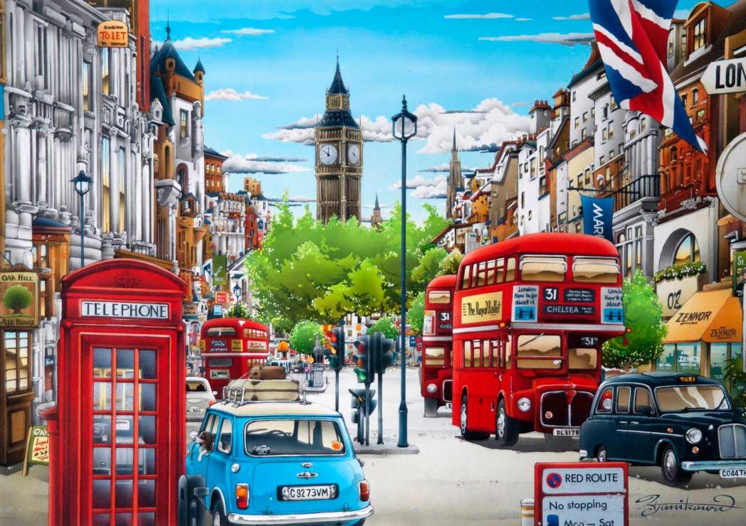 Puzzle Bluebird Londres de 1000 Piezas