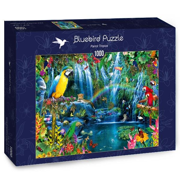 Puzzle Bluebird Loros Tropicales de 1000 Piezas