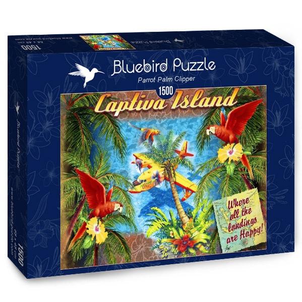 Puzzle Bluebird Loros y Palmeras de 1500 Piezas