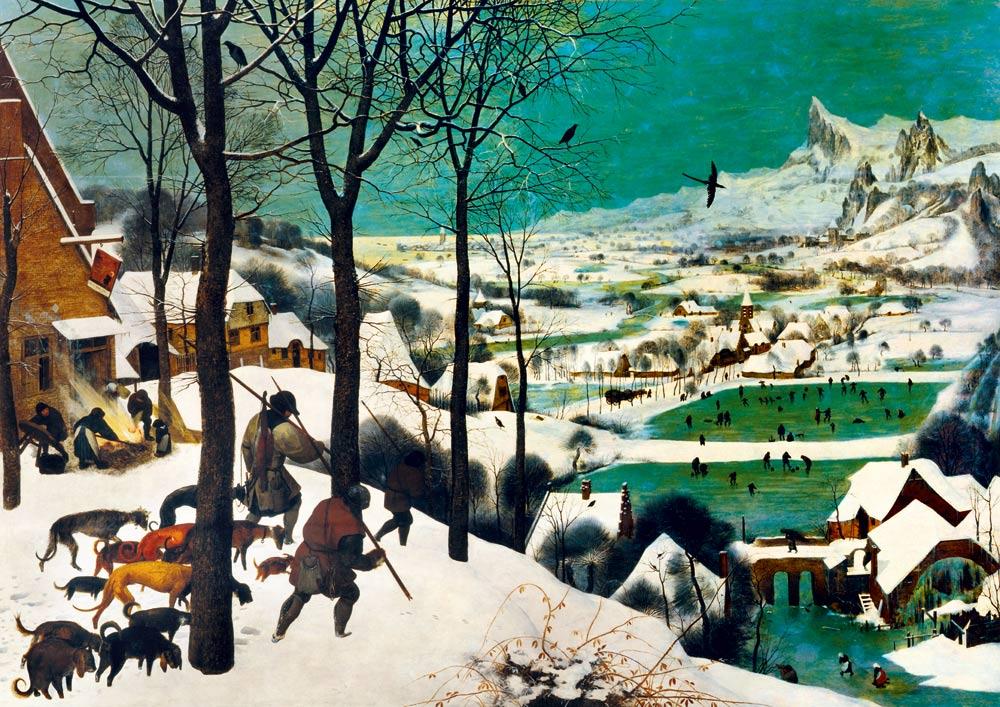 Puzzle Bluebird  Los Cazadores en la Nieve de 1000 Piezas