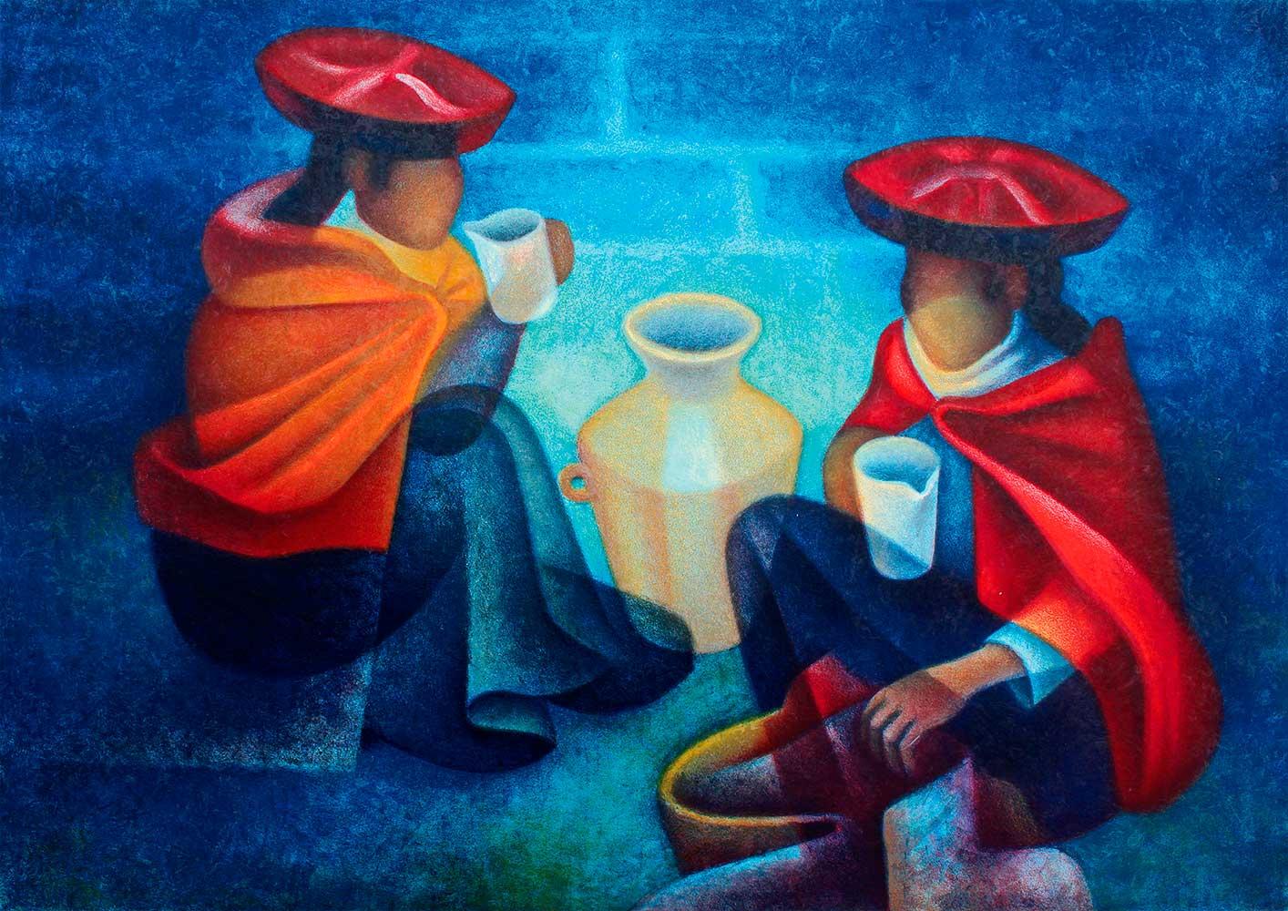 Puzzle Bluebird Los Comerciantes (Perú) 1000 Piezas