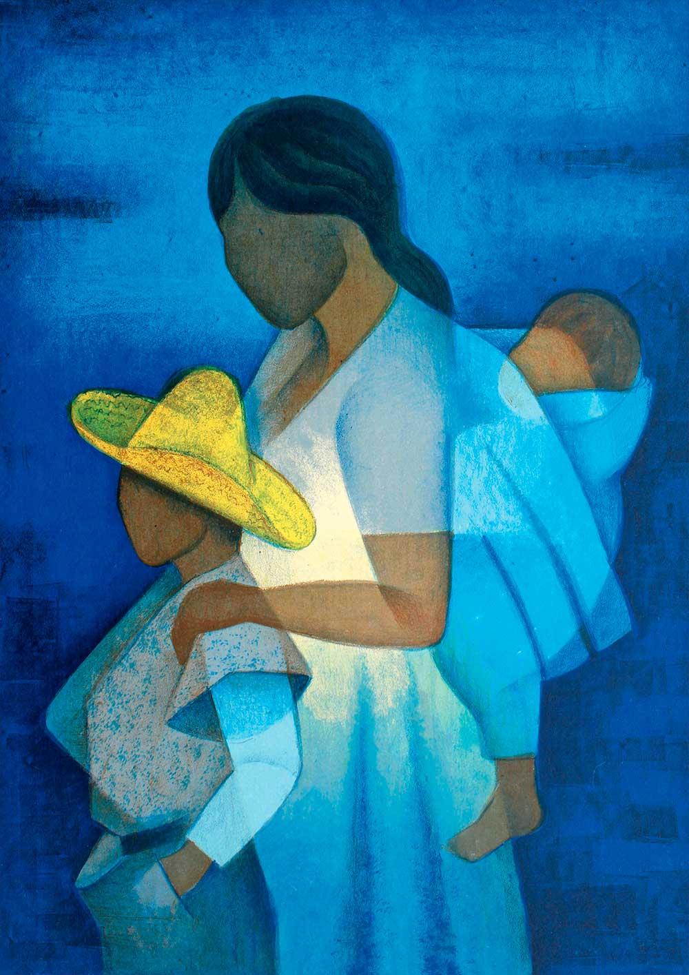 Puzzle Bluebird Madre e Hijos 1000 Piezas