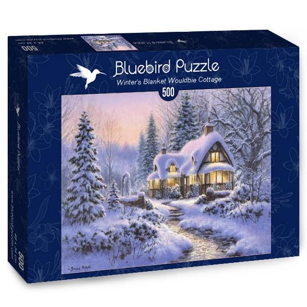 Puzzle Bluebird Manto de Invierno sobre Cabaña Wouldbie de 500 P
