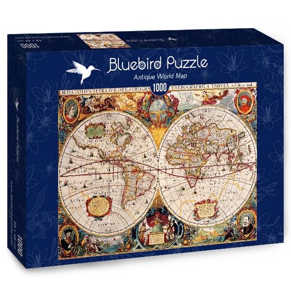 Puzzle Bluebird Mapa del Mundo Antiguo de 1000 Piezas