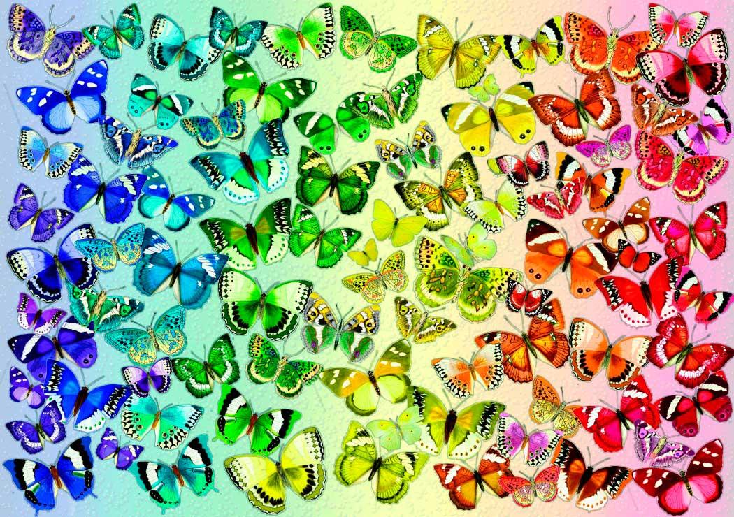 Puzzle Bluebird Mariposas de Colores de 1000 Piezas