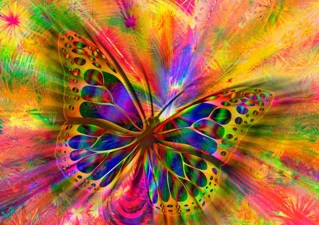 Puzzle Bluebird Mariposas de Colores de 1500 Piezas
