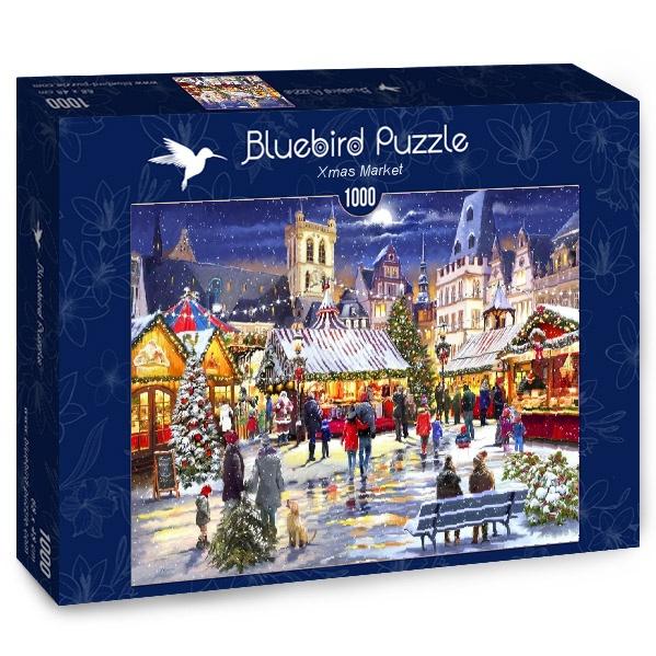 Puzzle Bluebird Mercado de Navidad de 1000 Piezas
