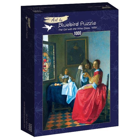 Puzzle Bluebird  Muchacha con Copa de Vino de 1000 Piezas