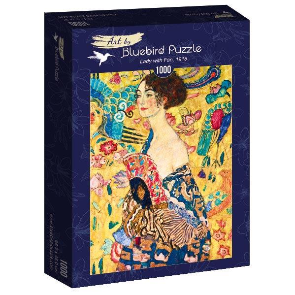 Puzzle Bluebird Mujer con Abanico de 1000 Piezas