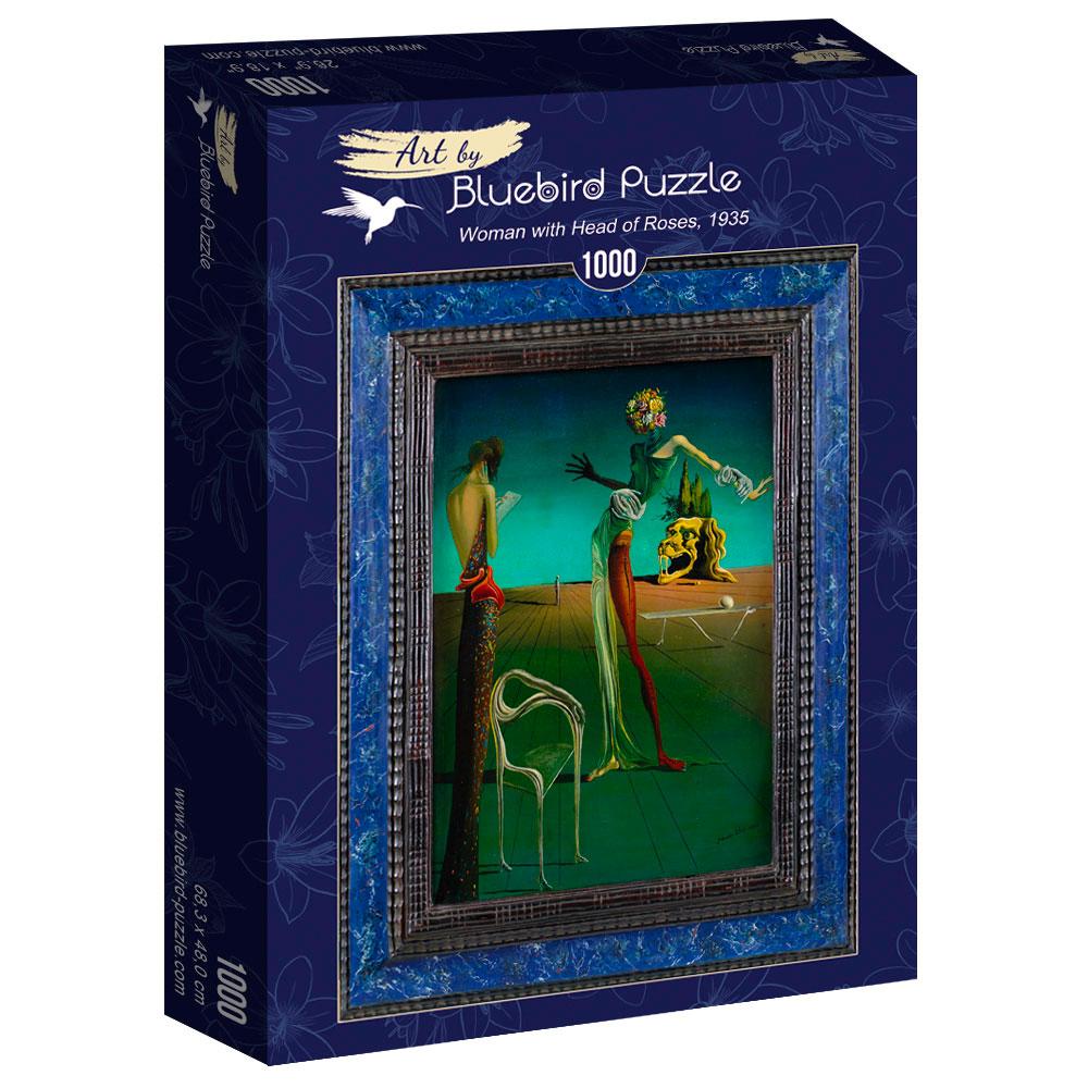 Puzzle Bluebird Mujer con Cabeza de Rosas 1000 Piezas