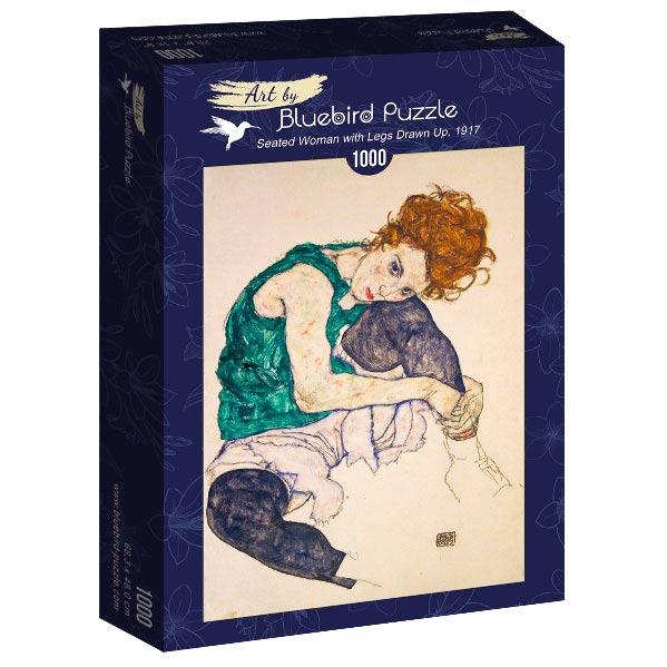 Puzzle Bluebird Mujer Sentada Apoyada Sobre Su Rodilla de 1000 P