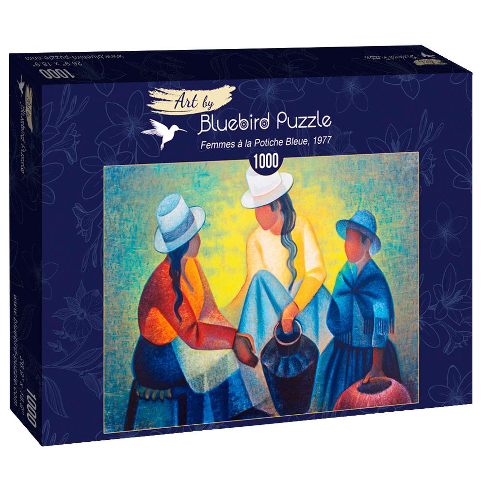 Puzzle Bluebird Mujeres con el Potiche Azul 1000 Piezas