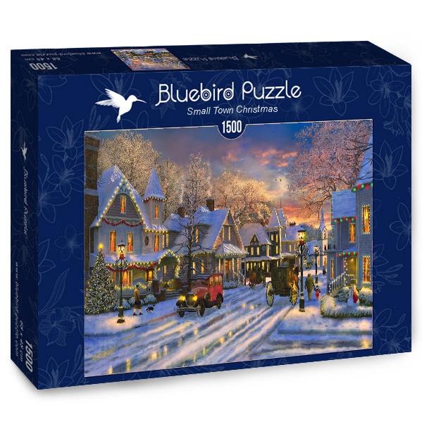 Puzzle Bluebird Navidades en Pequeño Pueblo de 1500 Piezas