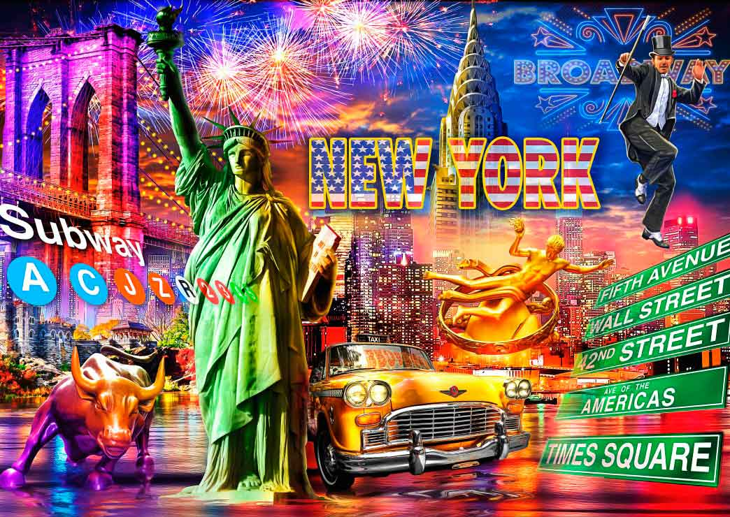 Puzzle Bluebird Nueva York de 3000 Piezas