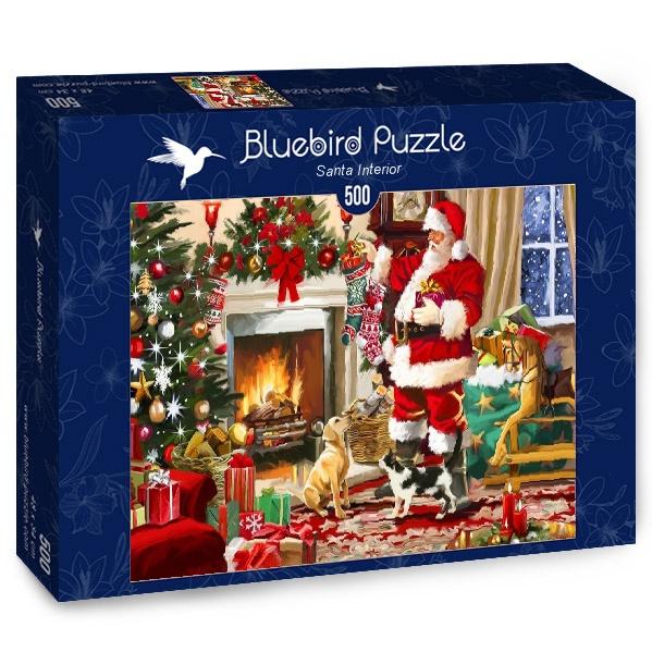 Puzzle Bluebird Papá Noel Adentro de 500 Piezas