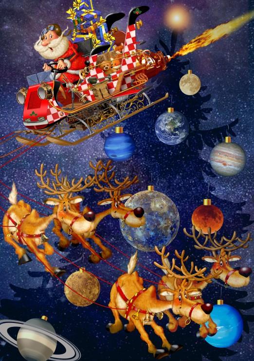 Puzzle Bluebird Papá Noel Está Llegando de 1500 Piezas