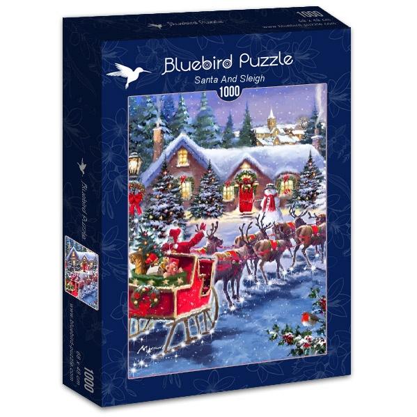 Puzzle Bluebird Papá Noel y Su Trineo de 1000 Piezas