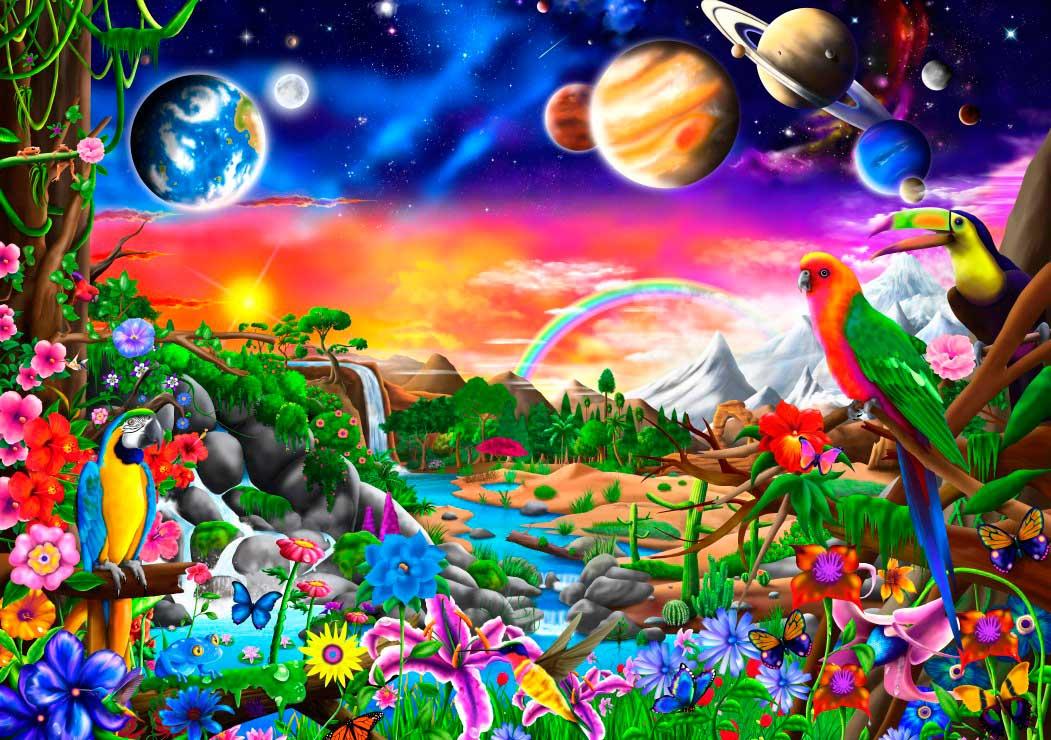 Puzzle Bluebird Paraíso Cósmico de 1000 Piezas