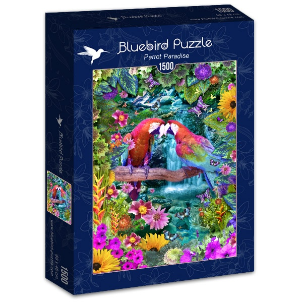 Puzzle Bluebird Paraíso de los Loros de 1500 Piezas