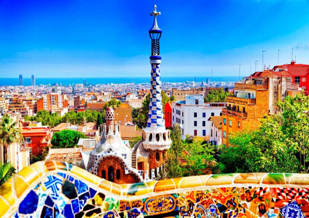 Puzzle Bluebird Parque Güell de Barcelona de 1000 Piezas