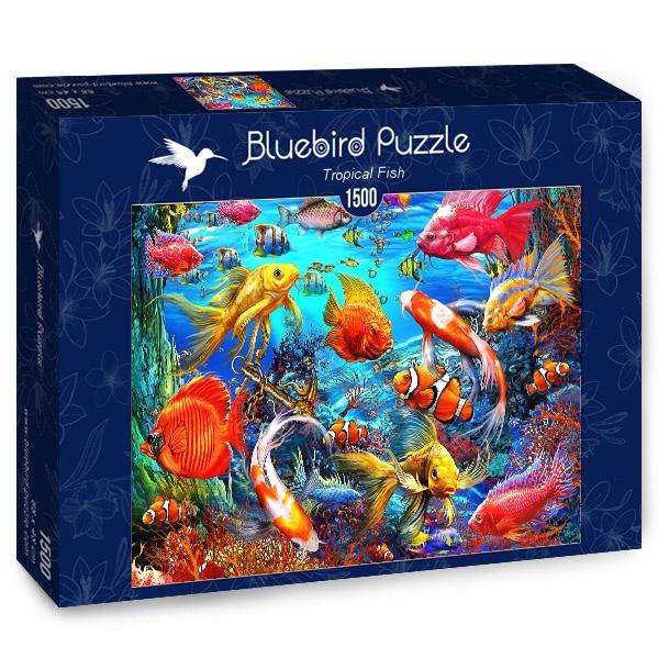 Puzzle Bluebird Peces Tropicales de 1500 Piezas