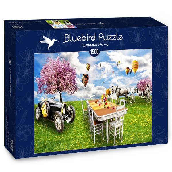 Puzzle Bluebird Picnic Romántico de 1500 Piezas