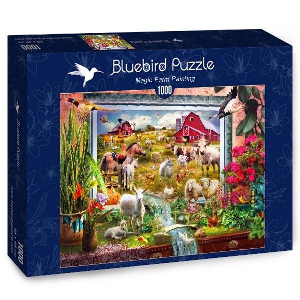 Puzzle Bluebird Pintura de la Granja Mágica de 1000 Piezas