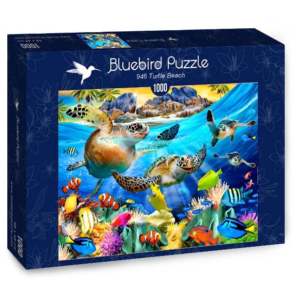 Puzzle Bluebird Playa Tortuga de 1000 Piezas