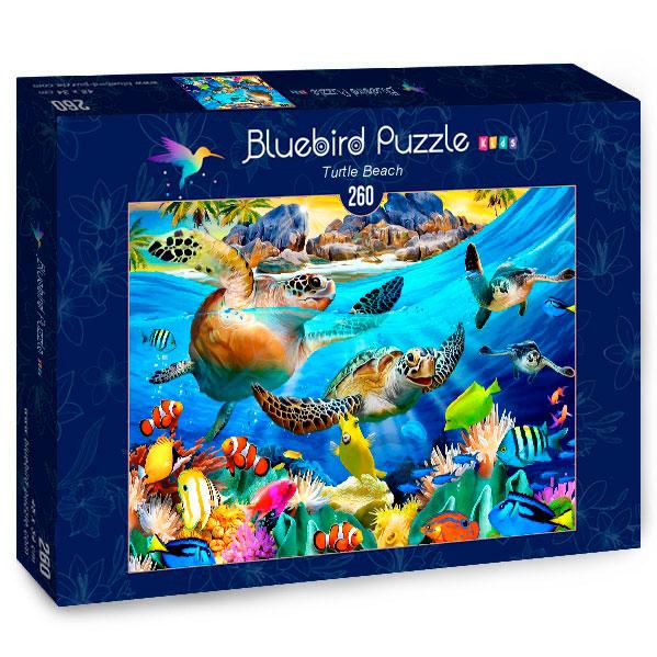Puzzle Bluebird Playa Tortuga de 260 Piezas