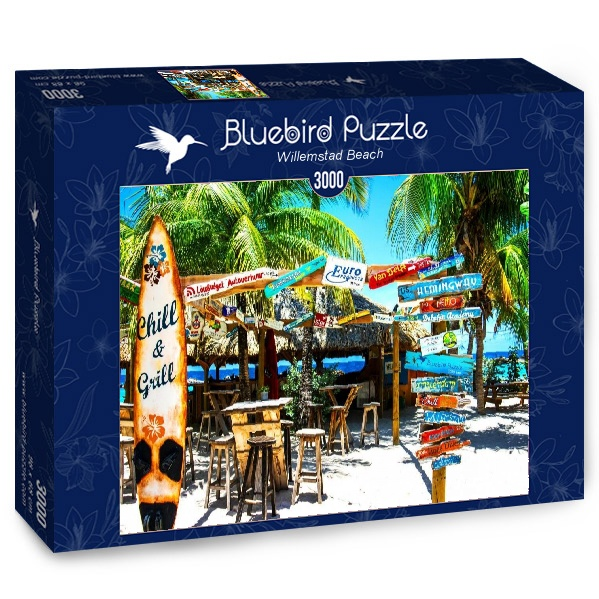 Puzzle Bluebird Playa Willemstad de 3000 Piezas