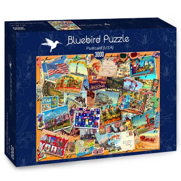 Puzzle Bluebird Postales de Estados Unidos de 3000 Piezas