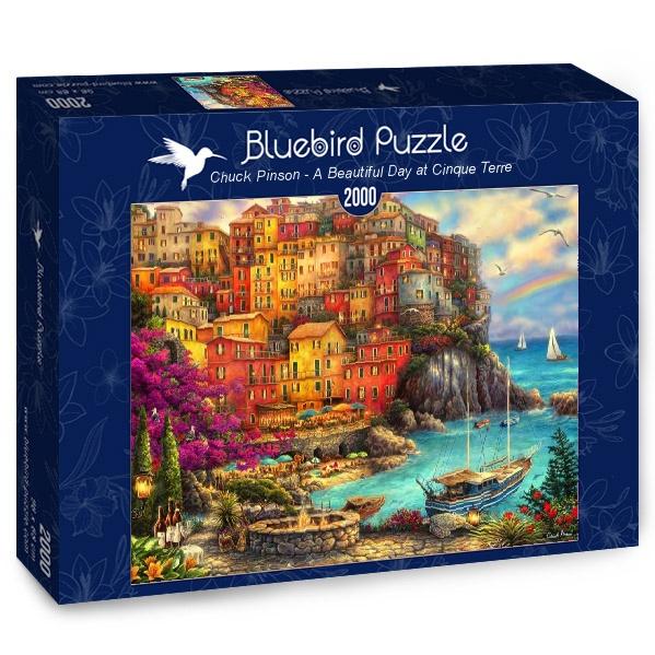 Puzzle Bluebird Precioso Día en Cinque Terre de 2000 Piezas