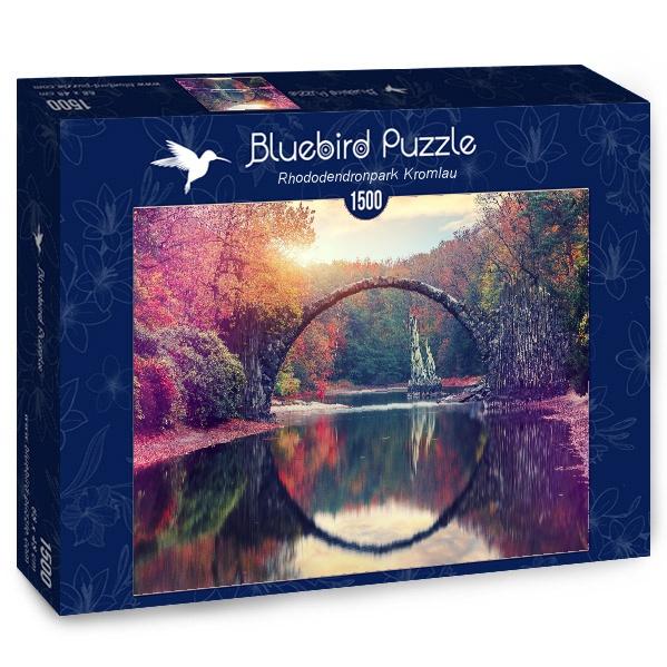 Puzzle Bluebird Puente del Diablo, Kromlau 1500 Piezas