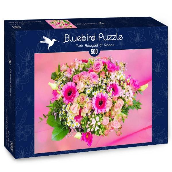 Puzzle Bluebird Ramo de Flores Rosas de 500 Piezas