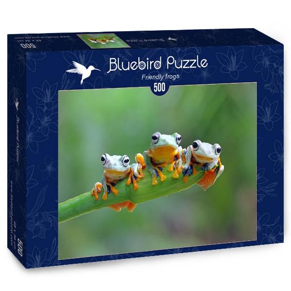 Puzzle Bluebird Ranas Amigables de 500 Piezas