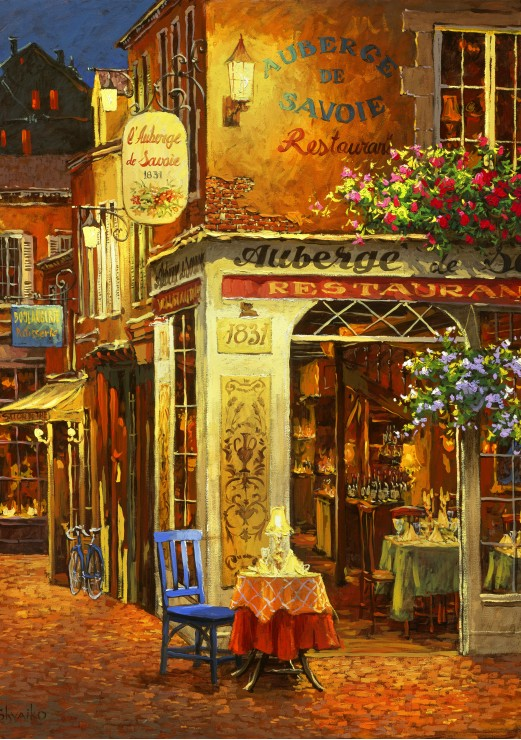 Puzzle Bluebird Restaurante Auberge de Savoie de 1000 Piezas