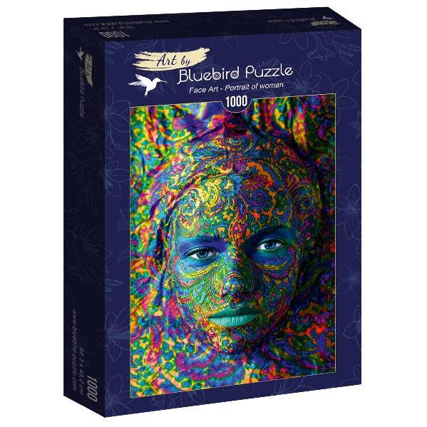 Puzzle Bluebird Retrato de Mujer de 1000 Piezas