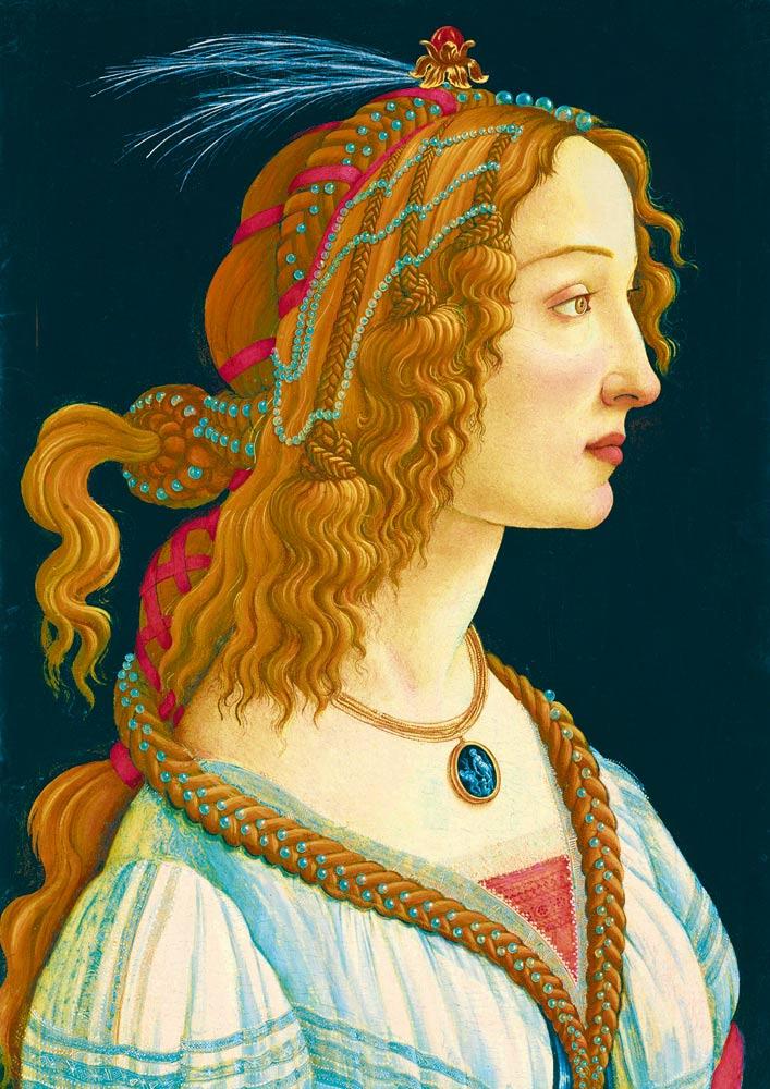 Puzzle Bluebird Retrato Idealizado de Una Dama de 1000 Piezas