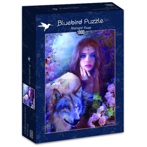 Puzzle Bluebird Rosa de Medianoche de 1000 Piezas
