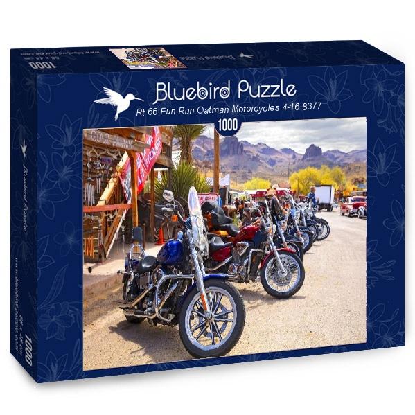Puzzle Bluebird Rt66 Motocicletas Oatman de 1000 Piezas