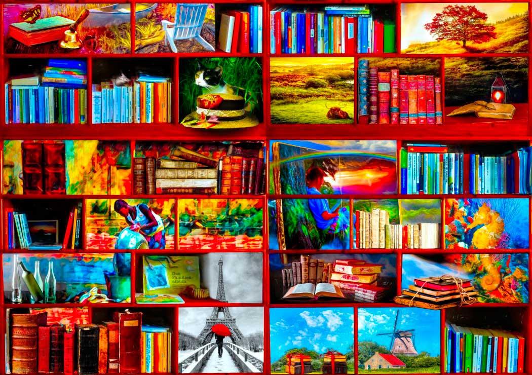 Puzzle Bluebird Sección de Viajes de la Biblioteca de 1000 Pzs