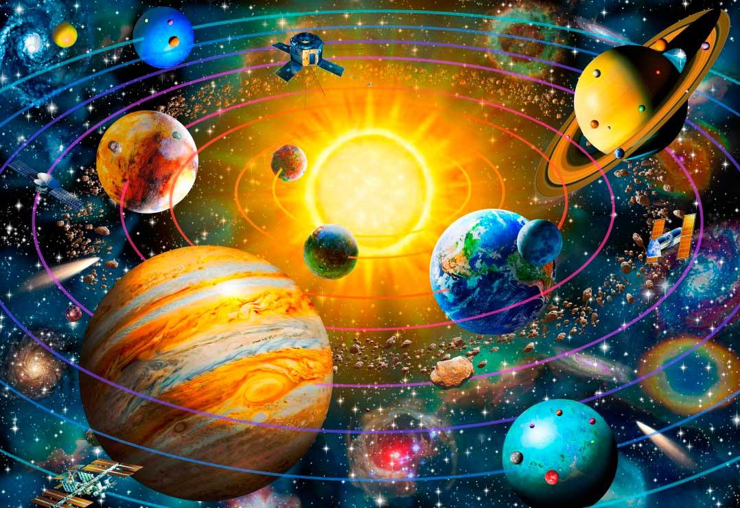 Puzzle Bluebird Sistema Solar Anillado de 260 Piezas