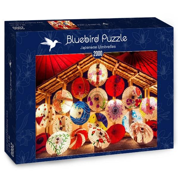 Puzzle Bluebird Sombrillas Japonesas de 2000 Piezas