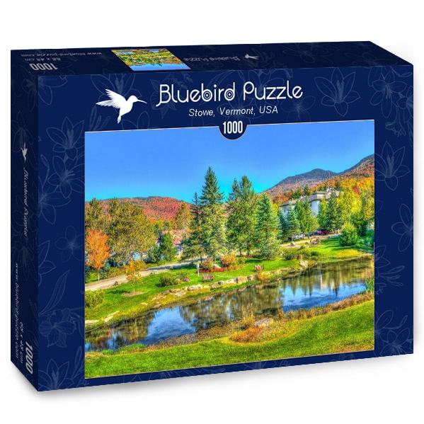 Puzzle Bluebird Stowe, Vermont, Estados Unidos de 1000 Piezas