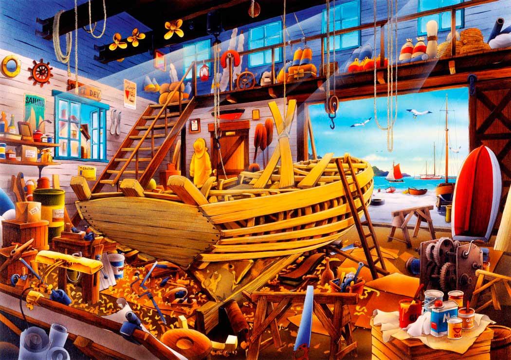 Puzzle Bluebird Taller de Barcos de 1000 Piezas