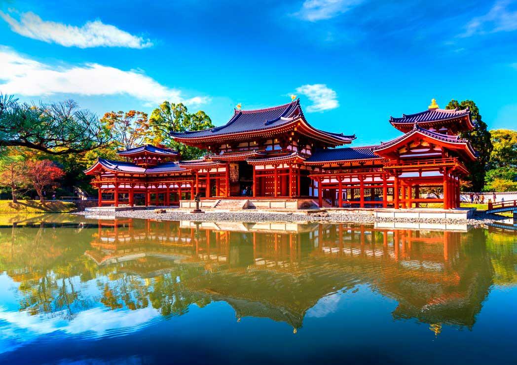 Puzzle Bluebird Templo Byodo de 1000 Piezas